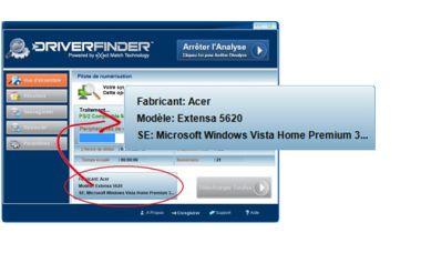Capture de DriverFinder