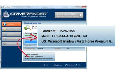 Driver Finder schermafdruk